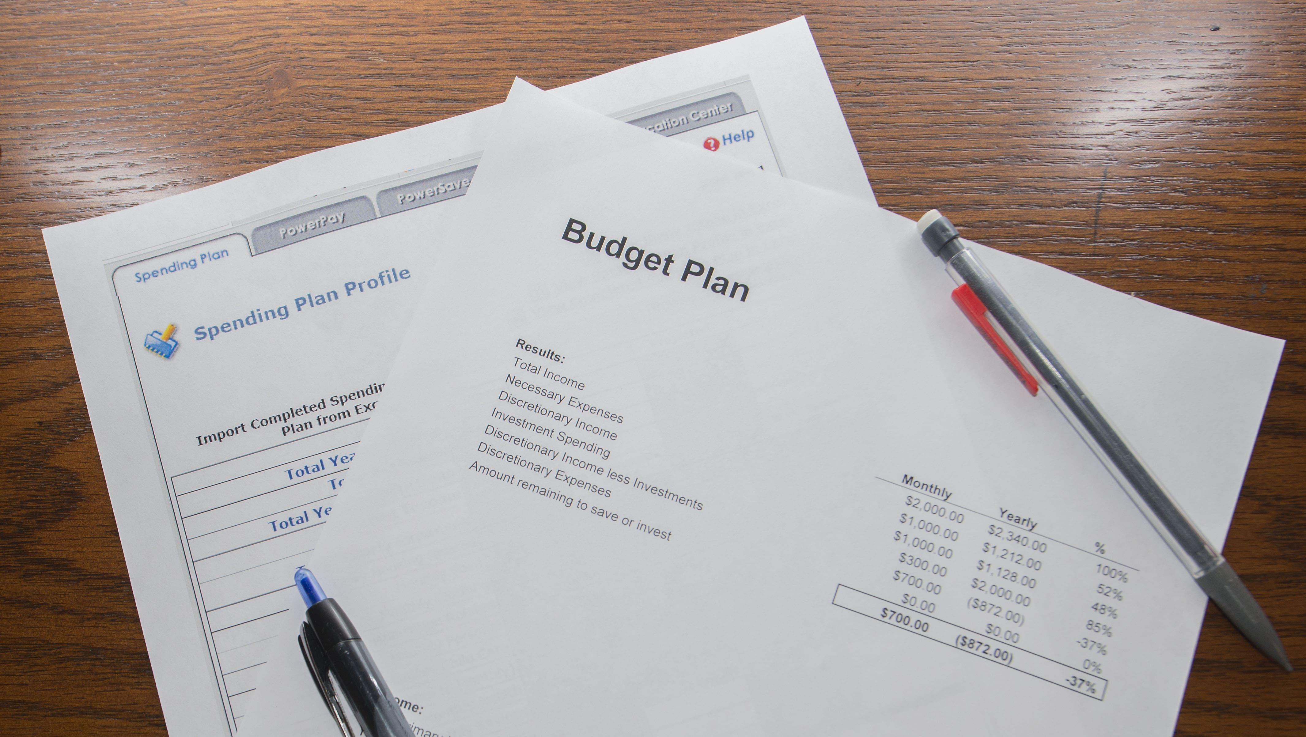How to write a budget: Bottom Up
